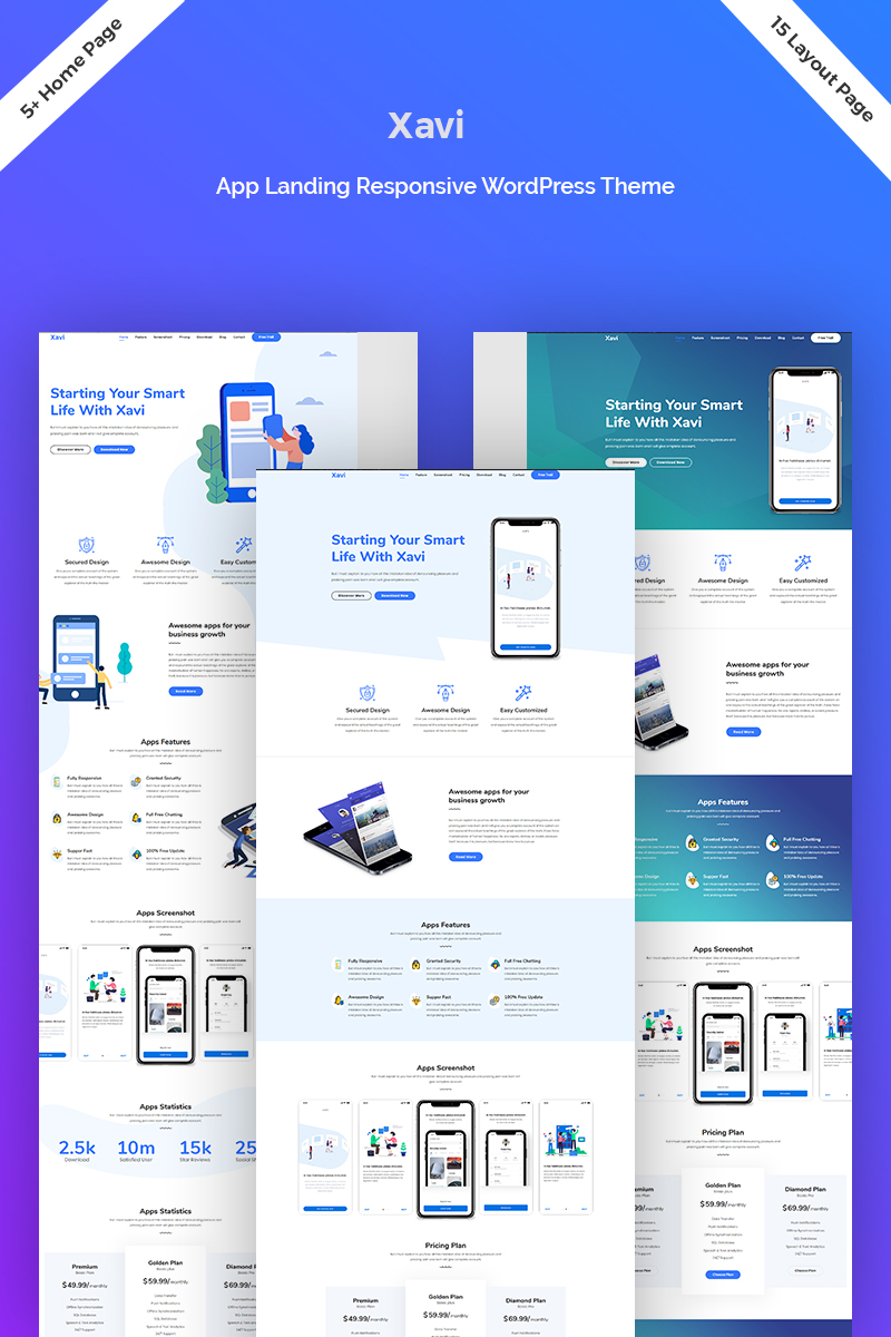 Xavi - App Landing WordPress Theme