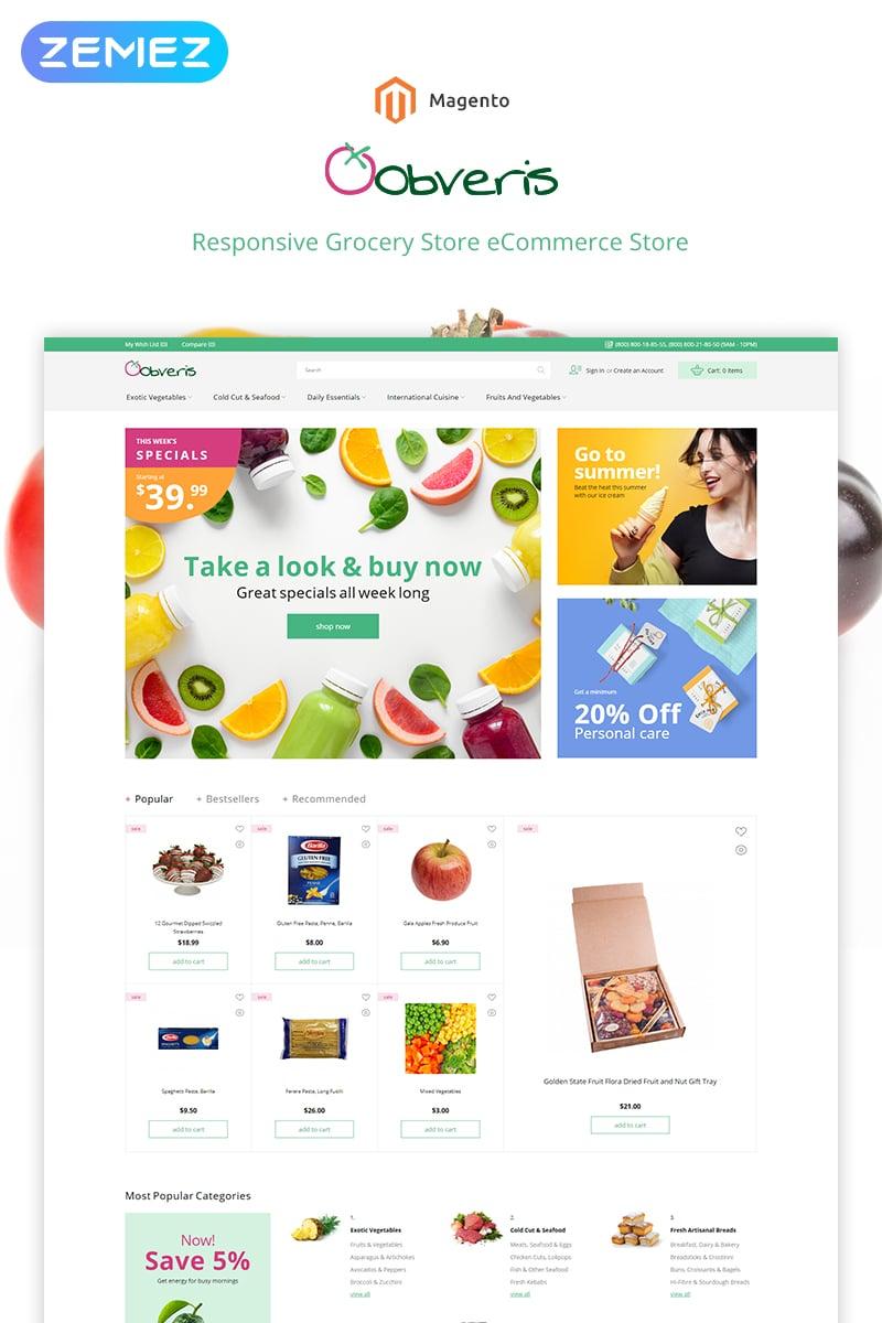 Plantilla para magento - Categoría: Comida y bebida - versión para Desktop
