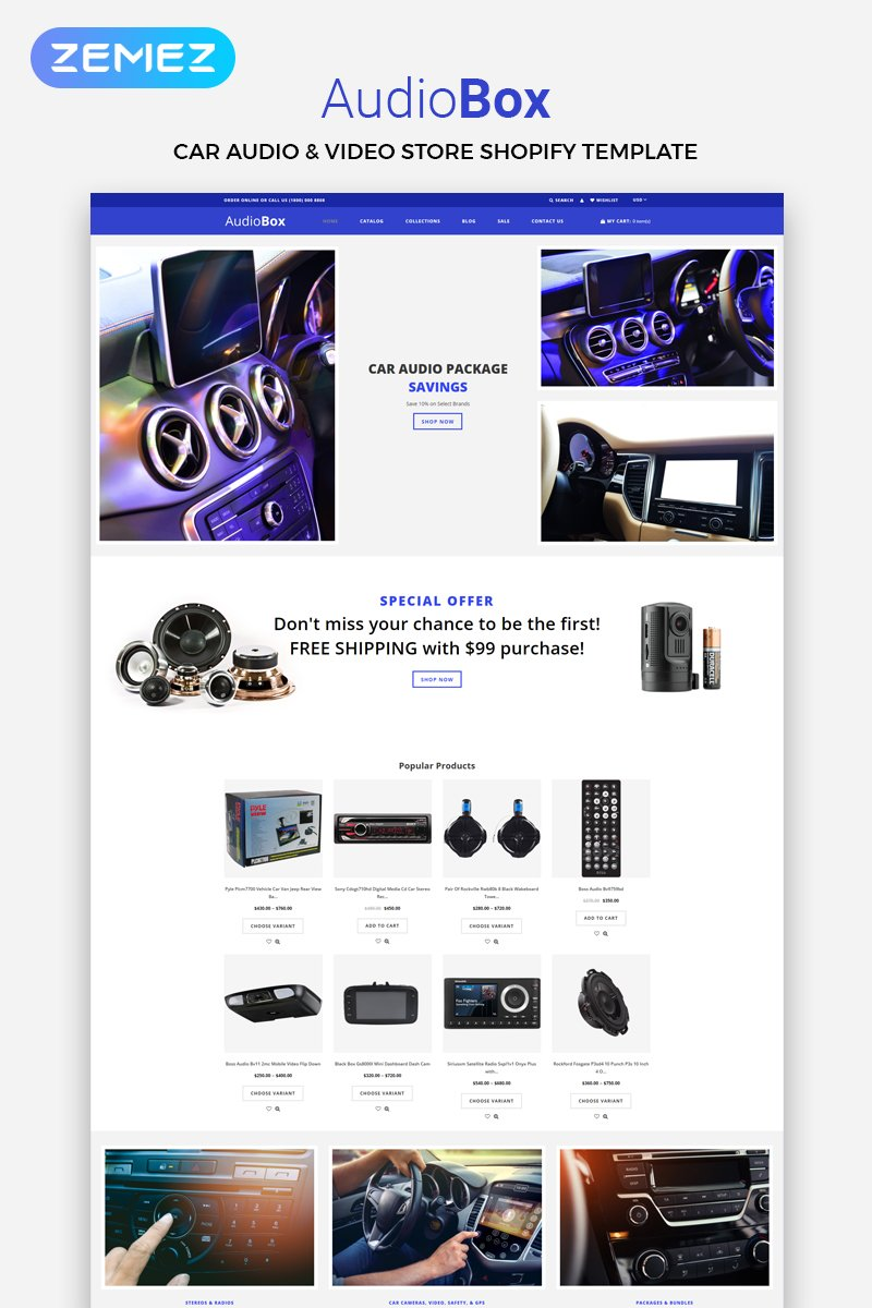 AudioBox - Car Audio E-Commerce Modern Shopify Theme - screenshot