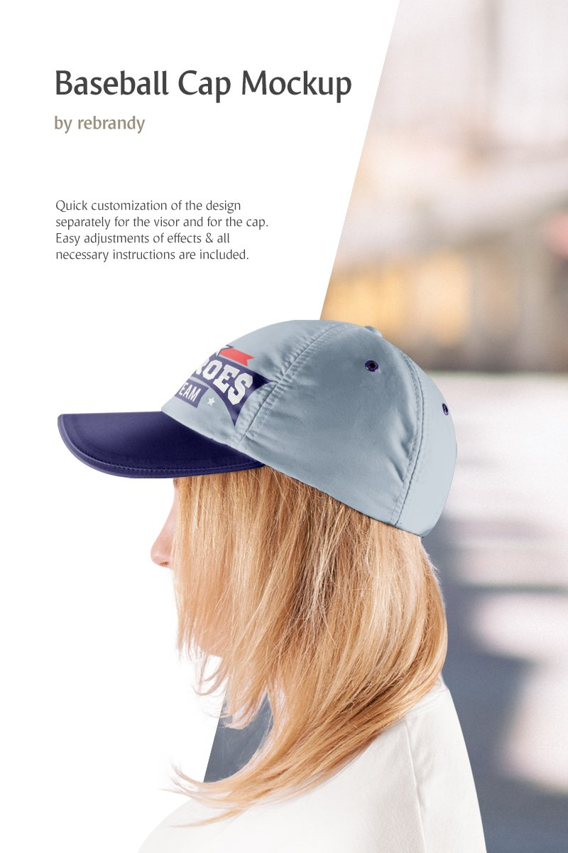 Baseball Cap Product Mockup #83336