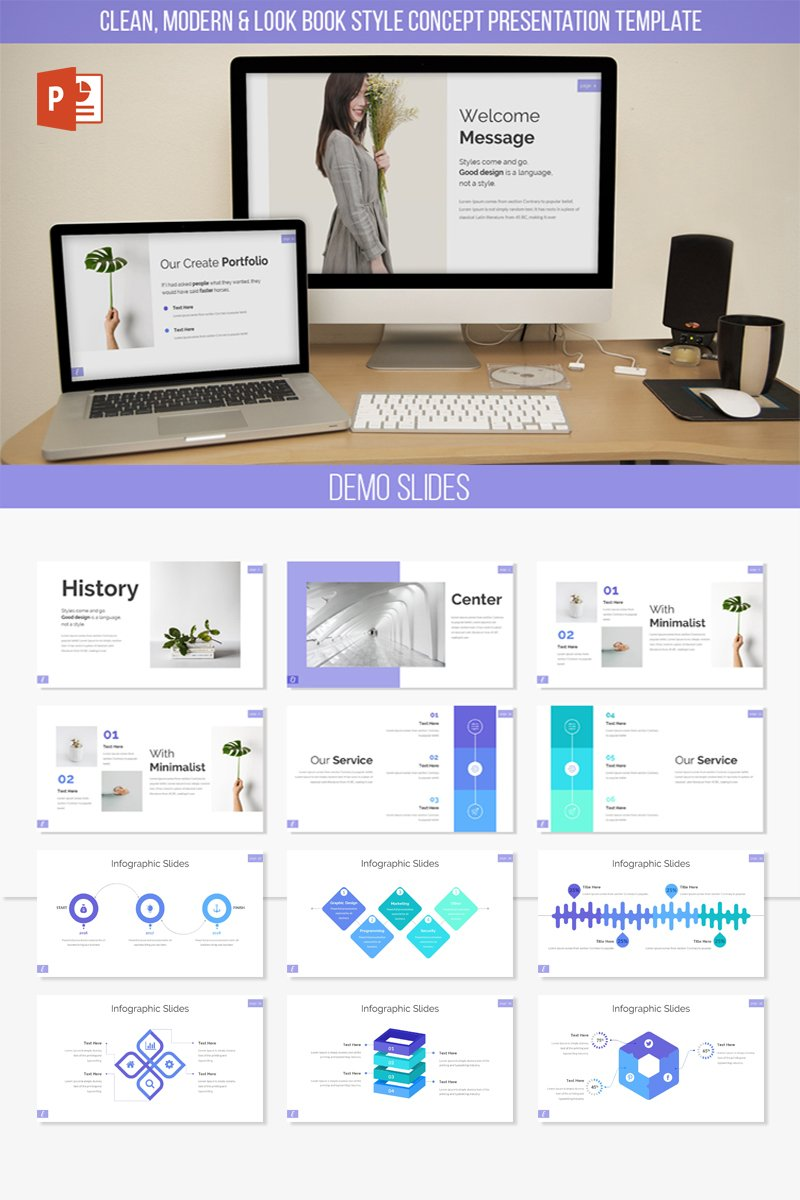 Ecelia Clean & Modern Presentation PowerPoint Template