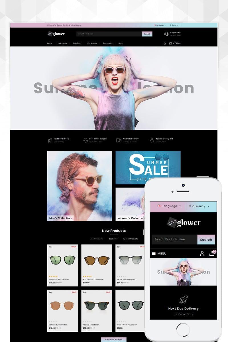 Glower - Goggles Store OpenCart Template - screenshot