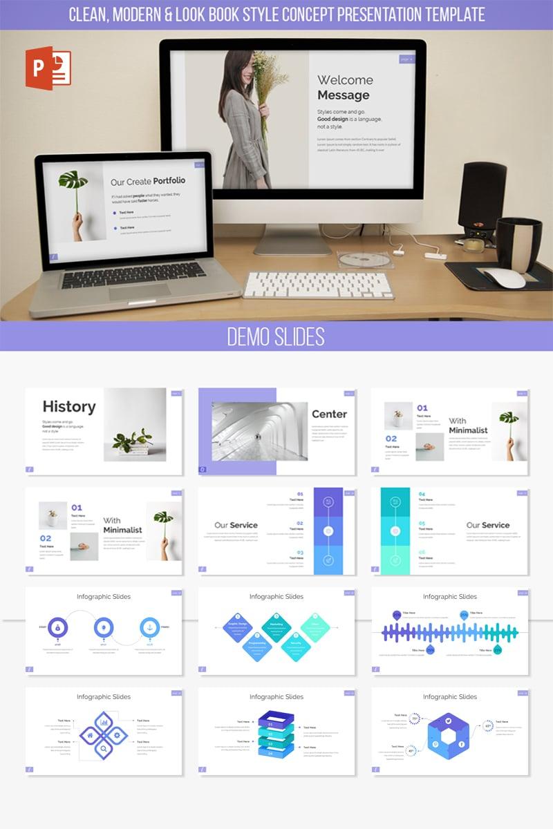 Responsywny szablon PowerPoint Ecelia Clean & Modern Presentation #83341