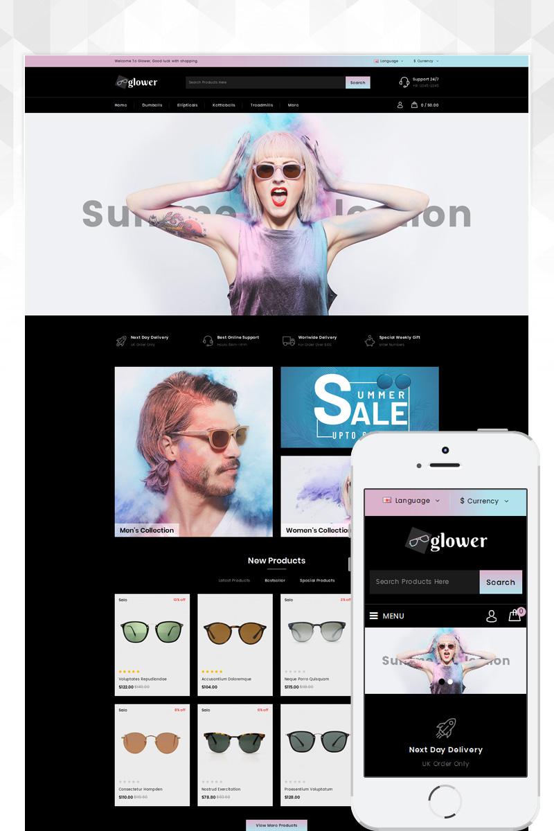 Reszponzív Glower - Goggles Store OpenCart sablon 83337 - képernyőkép