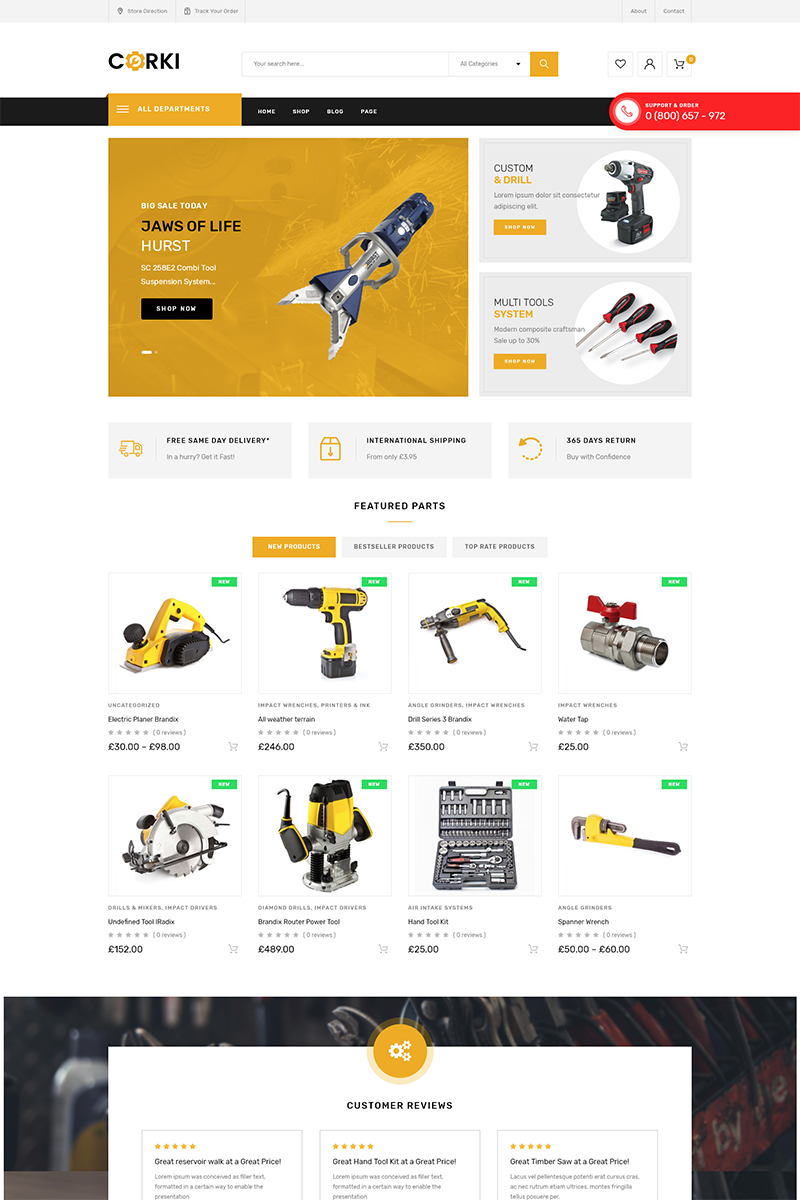Corki - Tools Store WooCommerce Theme