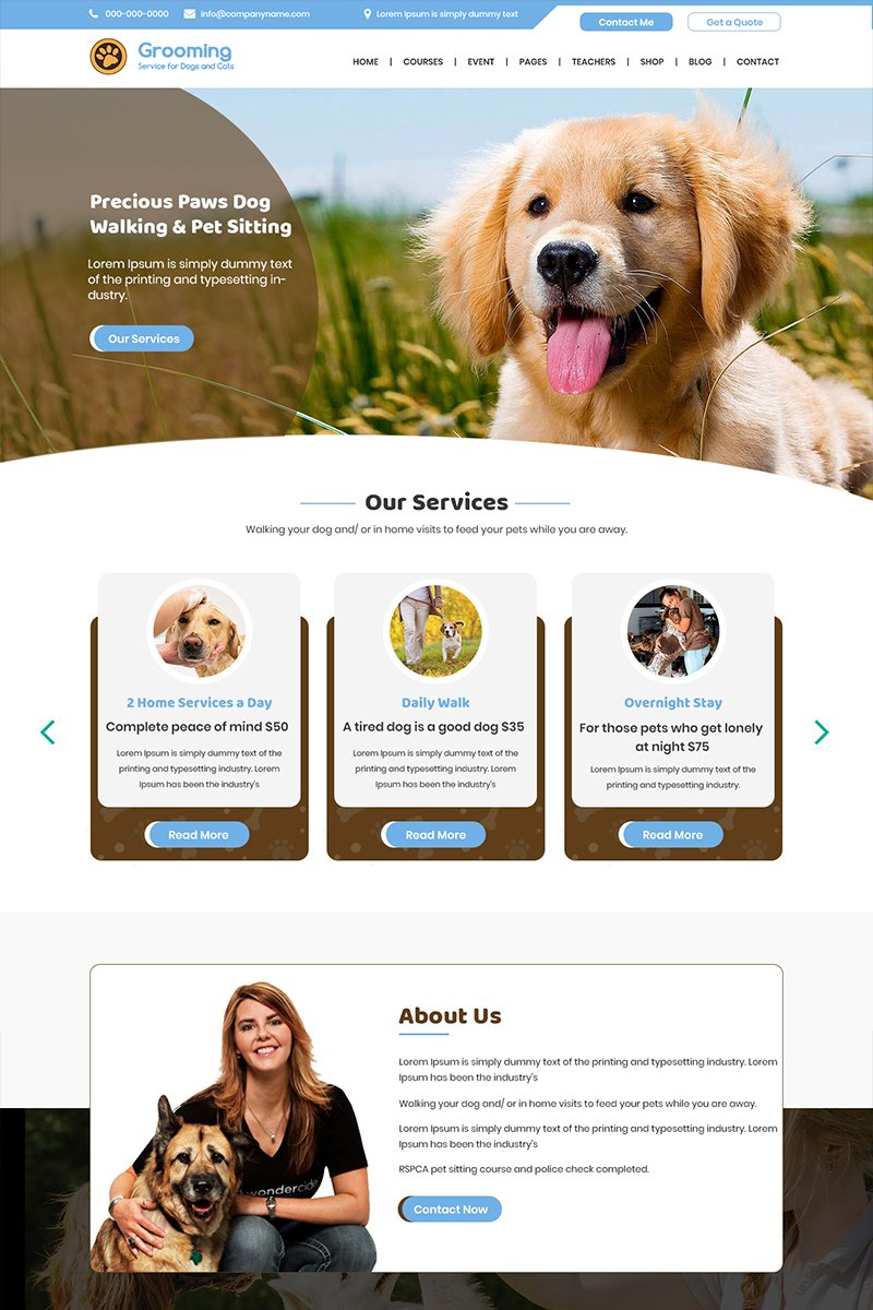Grooming - Dog Care PSD Template