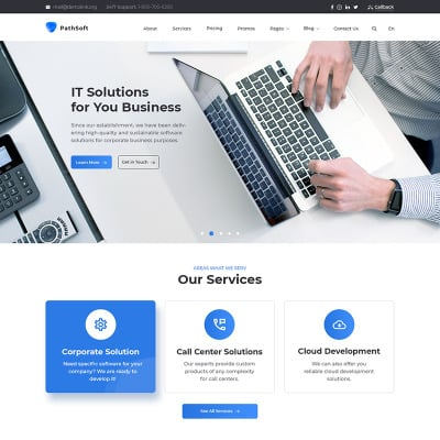 """Modello Siti Web Responsive #83414 """"PathSoft - IT Solutions for Your Business Services"""" #83414"""