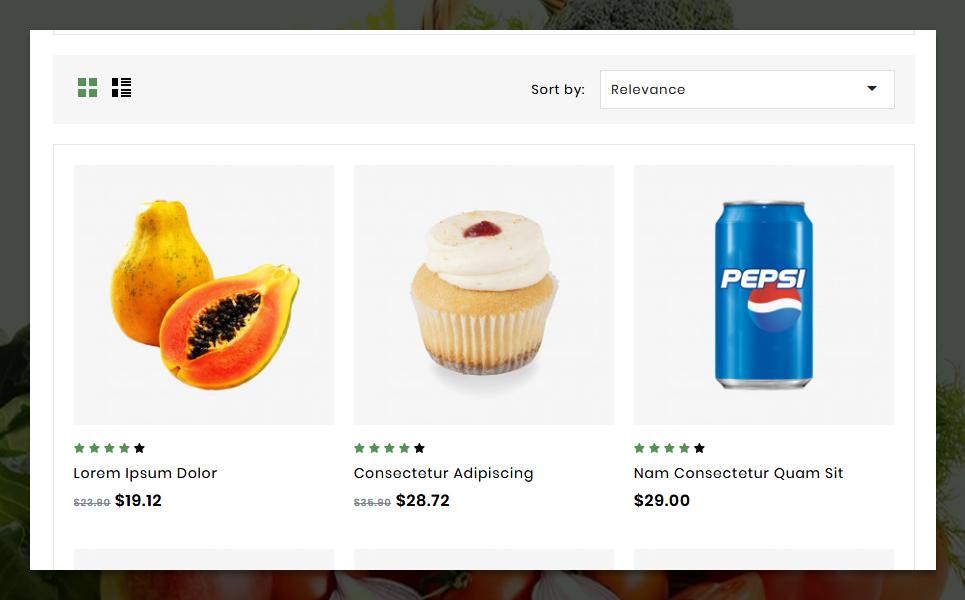 "PrestaShop Theme namens ""Metromart  Responsive"" #83439 - Screenshot"