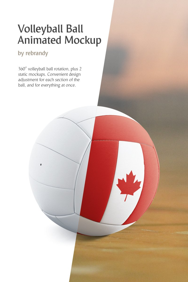 Produktowy mockup Volleyball Ball Animated #83483