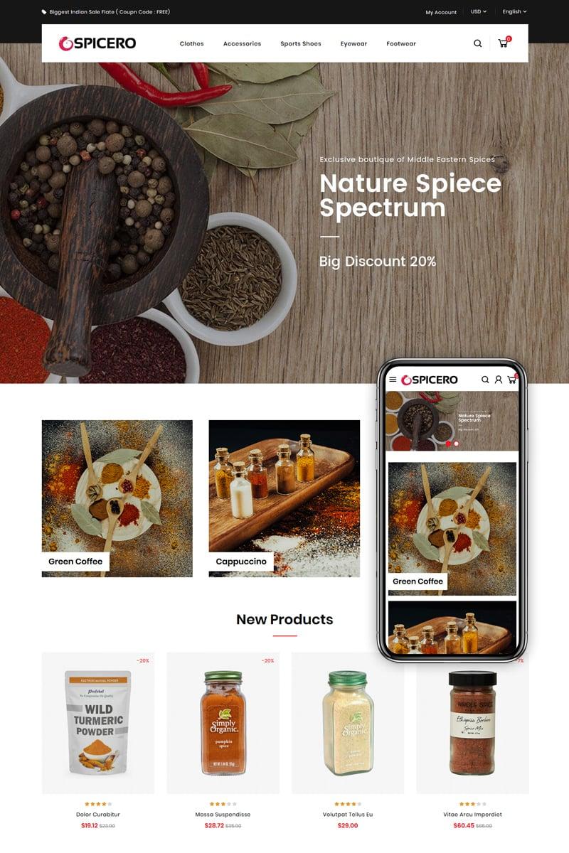 Responsive Spicero - Grocery Store Prestashop #83438