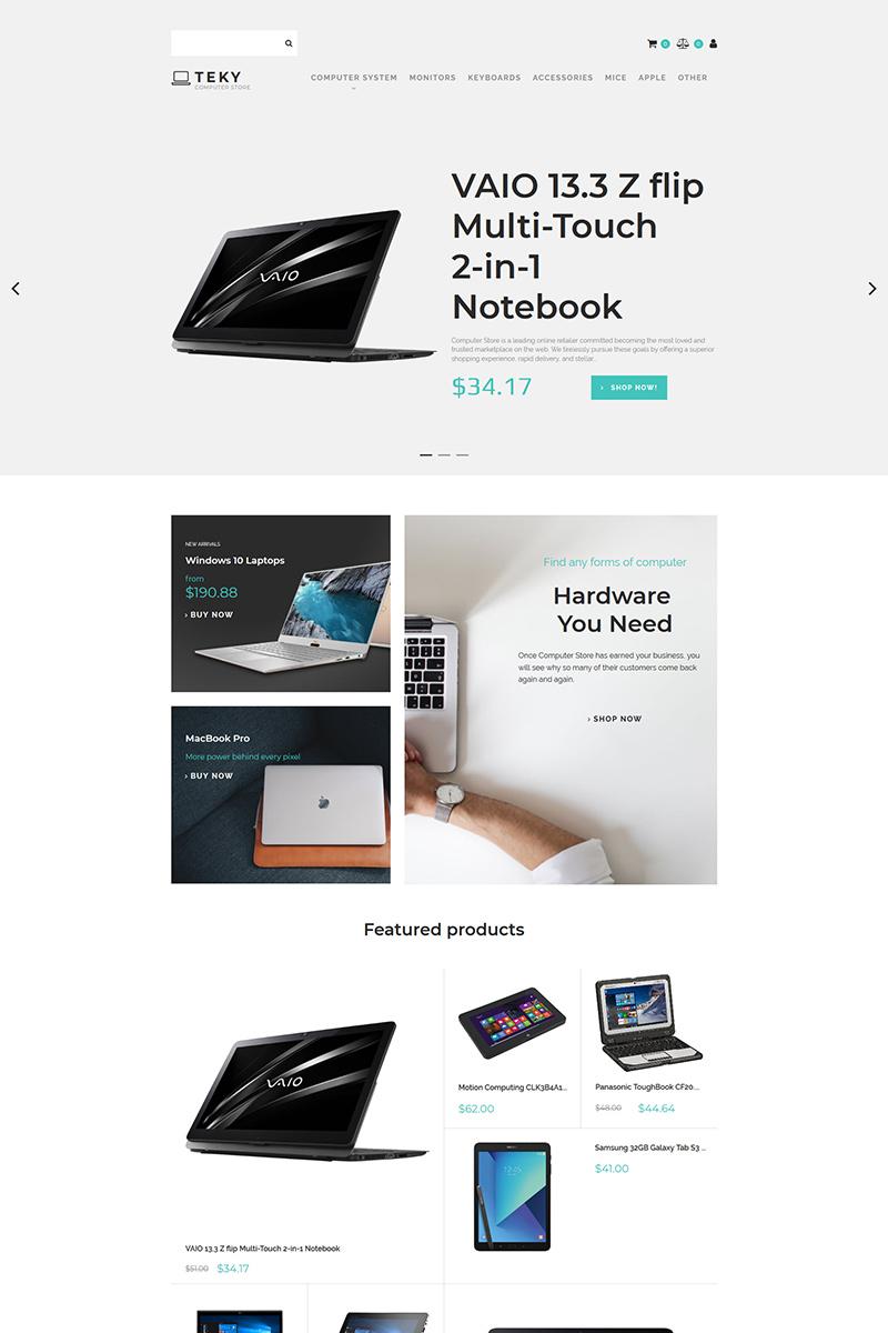 Responsywny ecommerce szablon MotoCMS Teky - Computers & Internet Store #83440