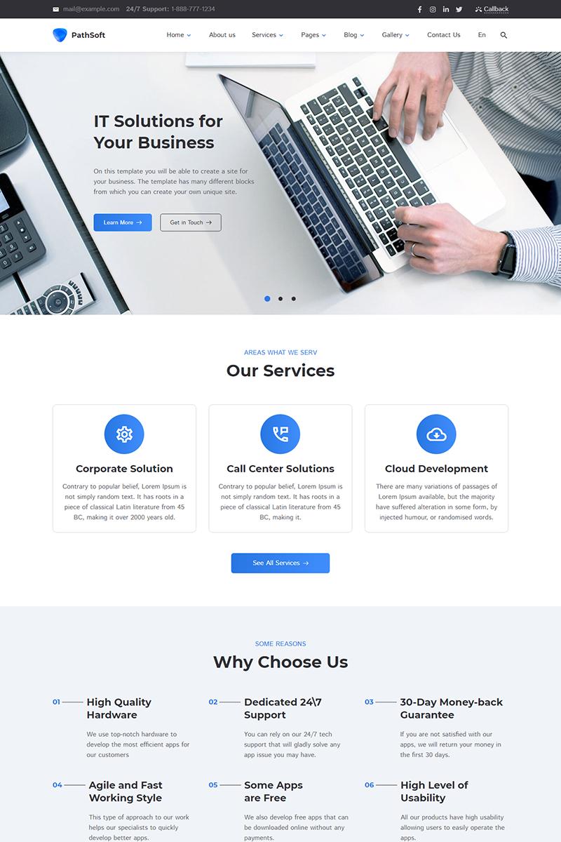 """Responzivní Šablona webových stránek """"PathSoft - IT Solutions for Your Business Services"""" #83414"""