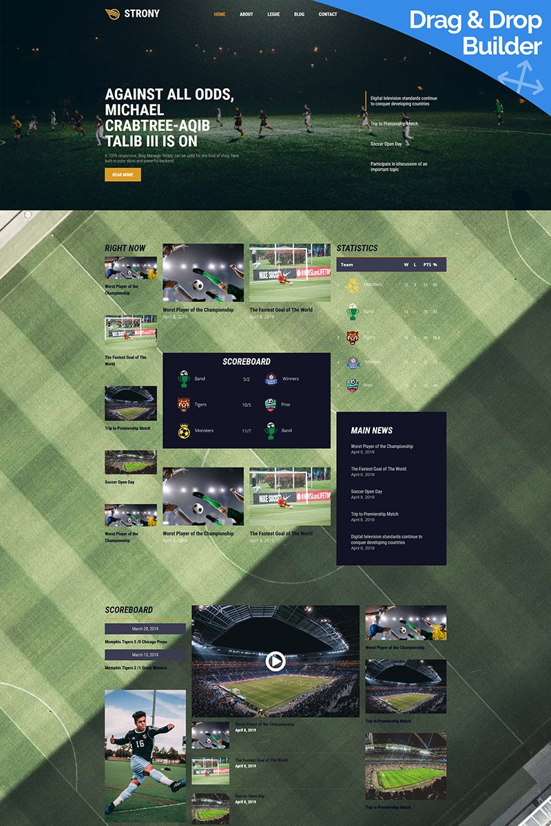 Strony - Sport Classic Moto CMS 3 Template