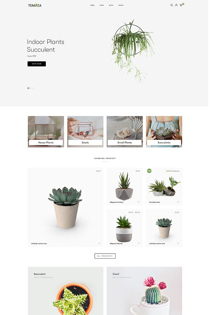 """Temoza - Plant Store"" thème WooCommerce WPML Ready #83479"