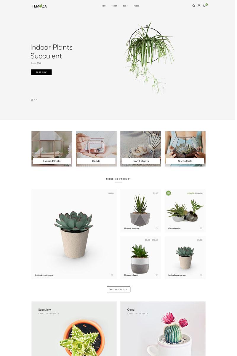 """Temoza - Plant Store"" WPML Ready WooCommerce Thema №83479"
