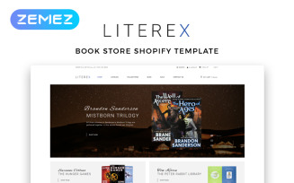 Literex - Book Store Shopify Multipage Shopify Theme