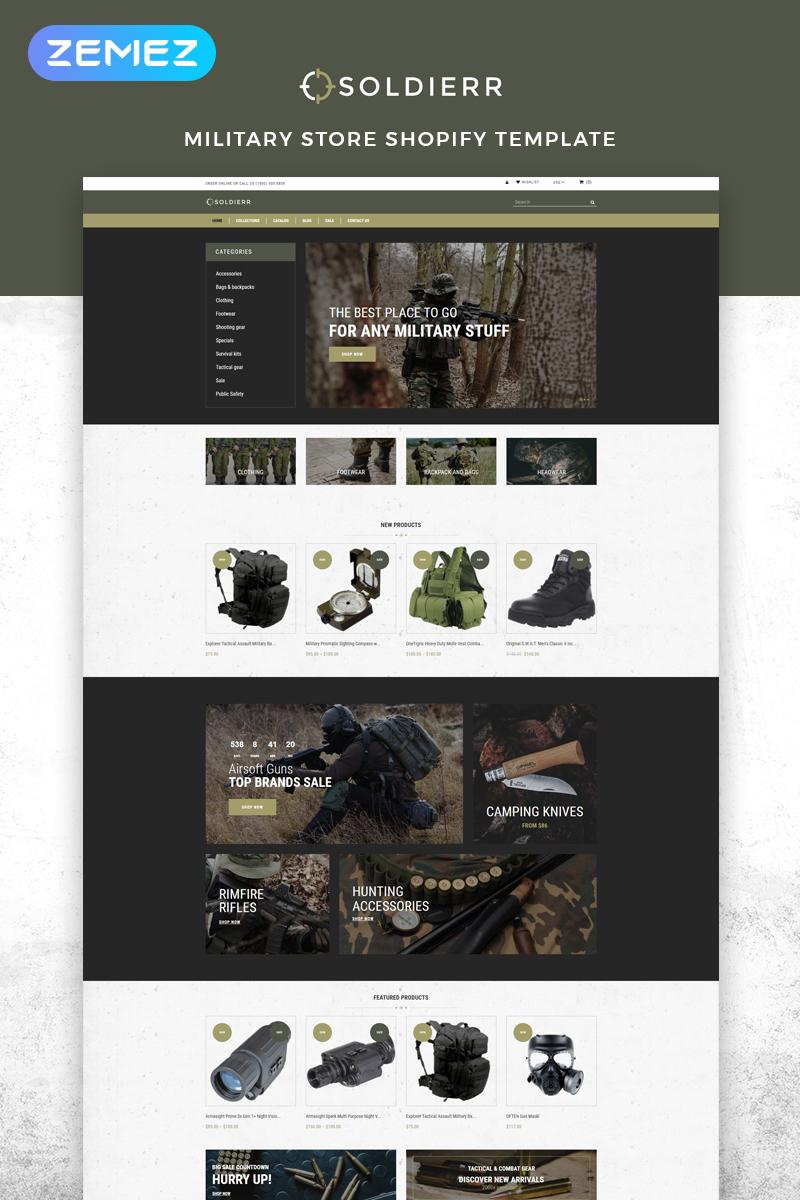 "Responzivní Shopify motiv ""Soldierr - Military Multipage Clean"" #83529 - screenshot"
