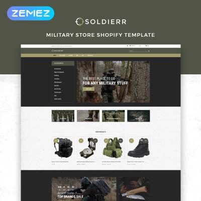 Responsives Shopify Theme für Waffenladen