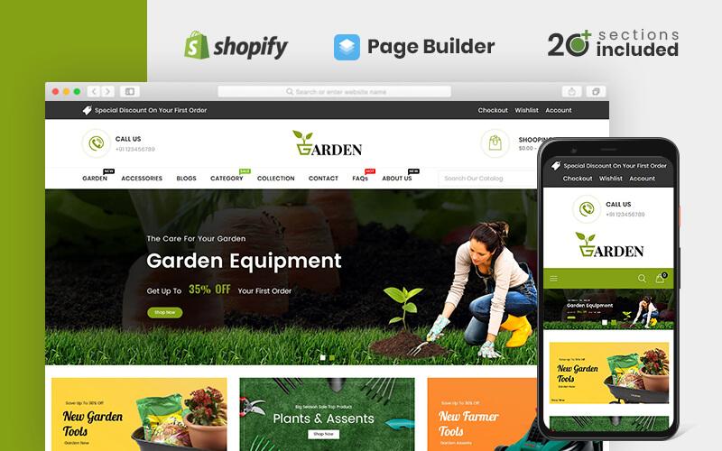 """Modello Shopify Responsive #83648 """"Garden Tools Store"""""""