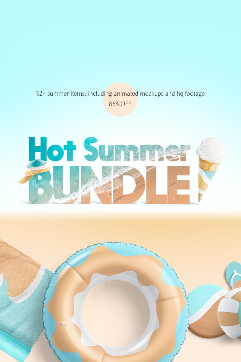 Produktowy mockup Hot Summer Mockups Bundle #83606 - zrzut ekranu