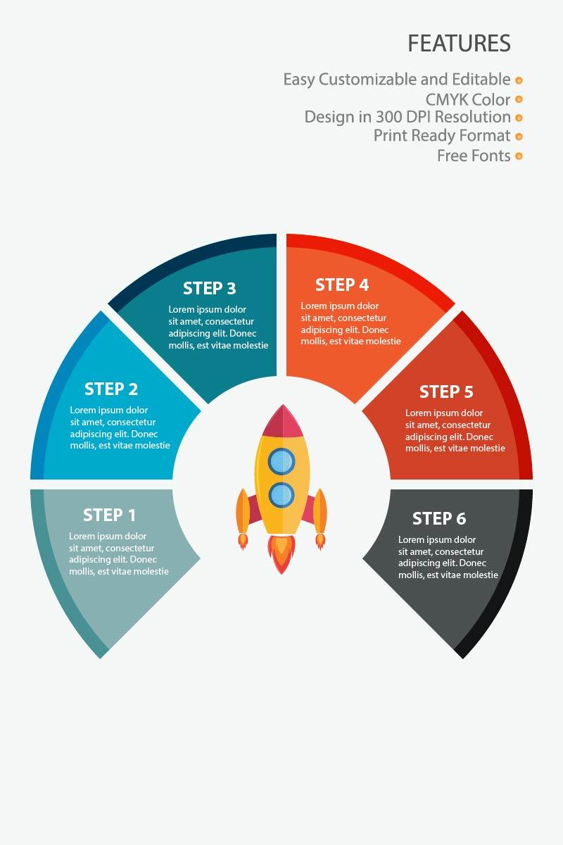 """Prvky infografiky """"Rocket"""" #83630"""