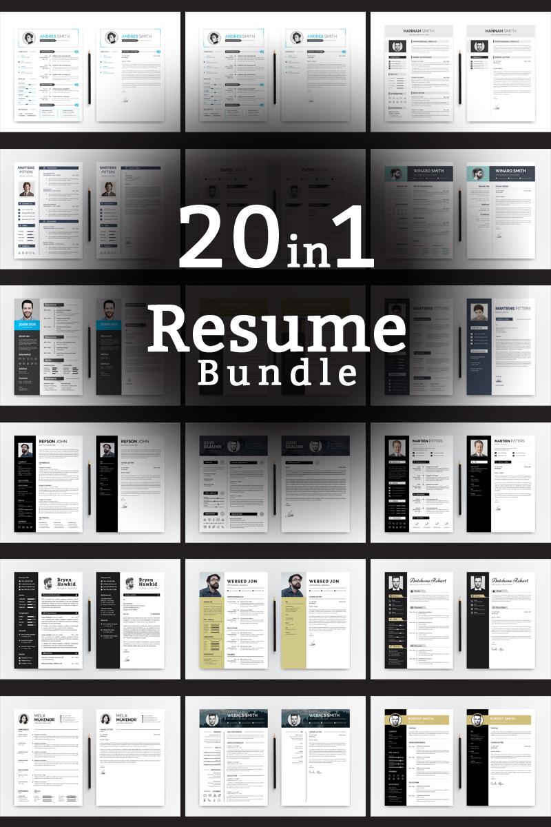 Word CV Bundle Resume Template