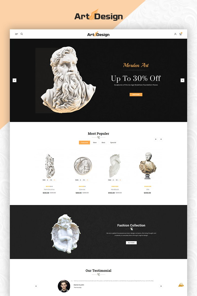 Art Design OpenCart Template