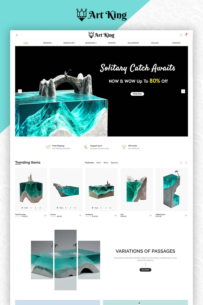 Art King OpenCart Template