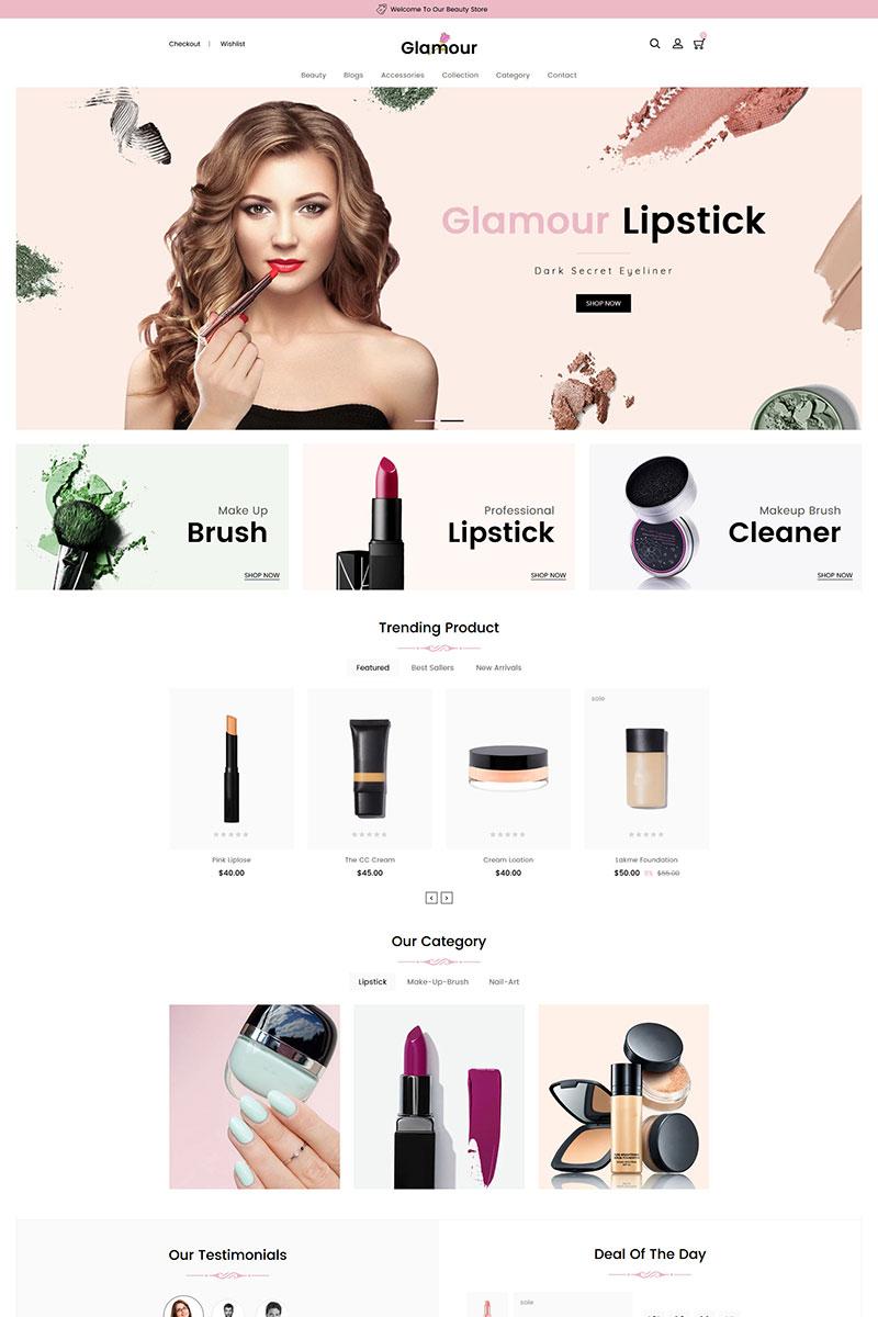 """Glamour Cosmetics"" Responsive Shopify Thema №83769"
