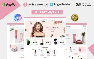 Glamour Cosmetics Store Shopify Theme