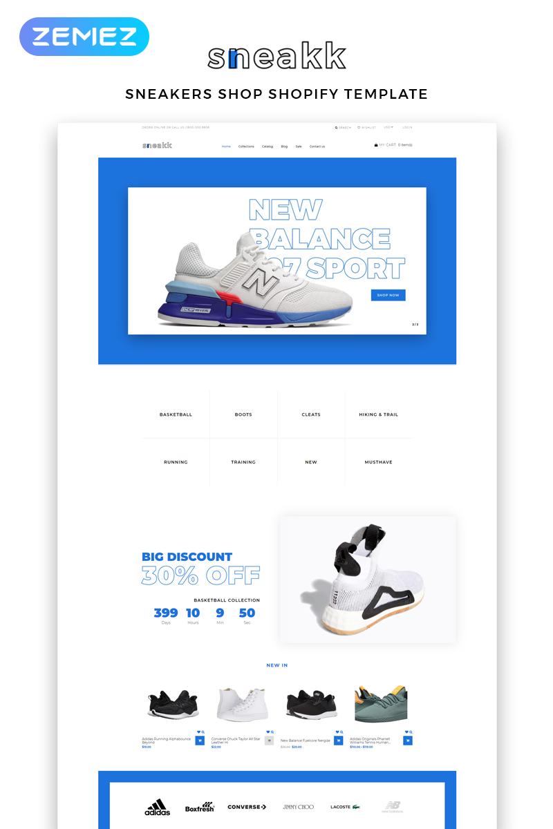 Sneakk - Fashion Store Multipage Clean Shopify Theme - screenshot