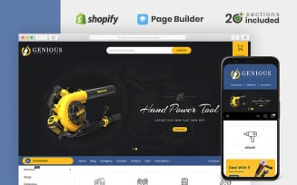 Genious Power Tools Store Shopify Theme