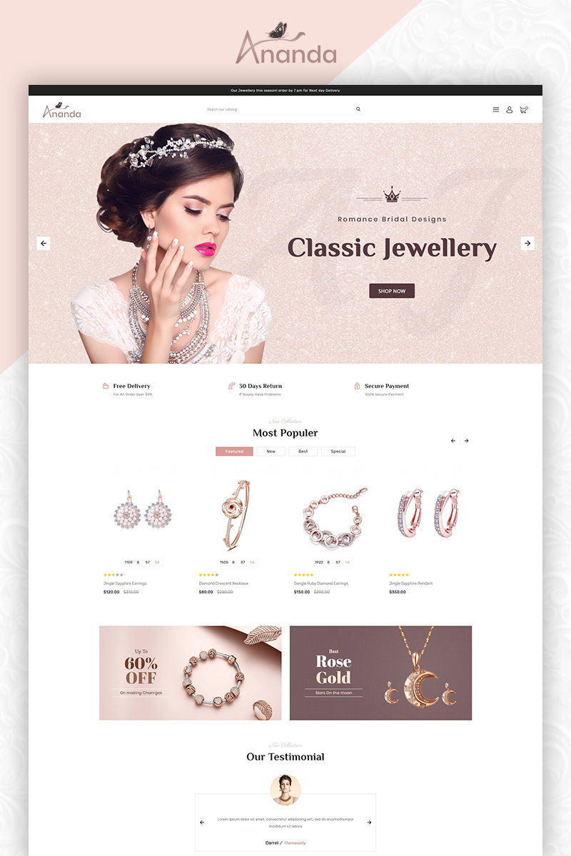 Ananda Royal Jewellery Store OpenCart Template