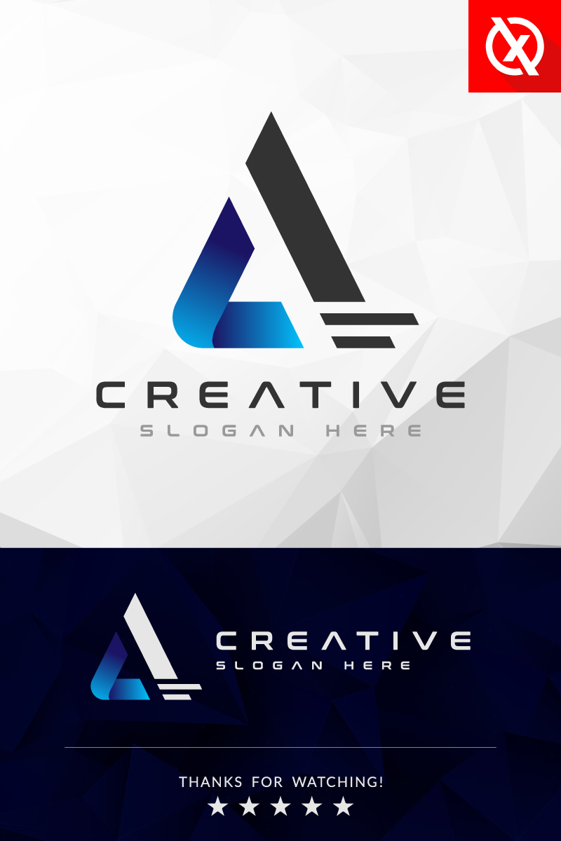 Creative Brand A - Letter Logo Template