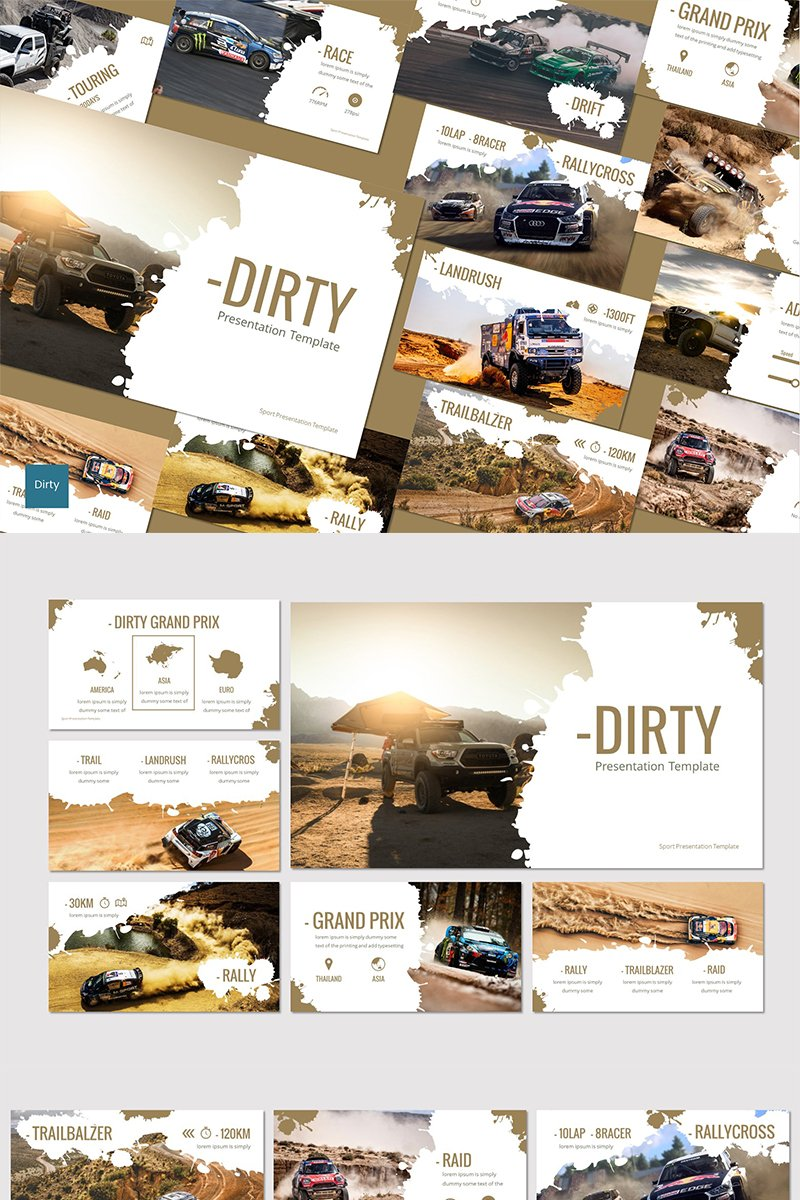 Dirty - PowerPoint Template