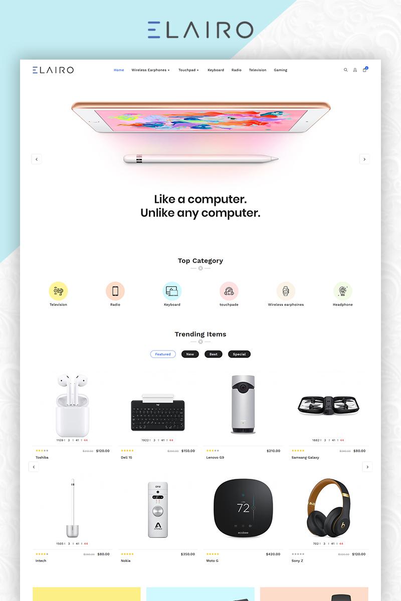 Elairo Electronic Premium Clean Store. OpenCart Template