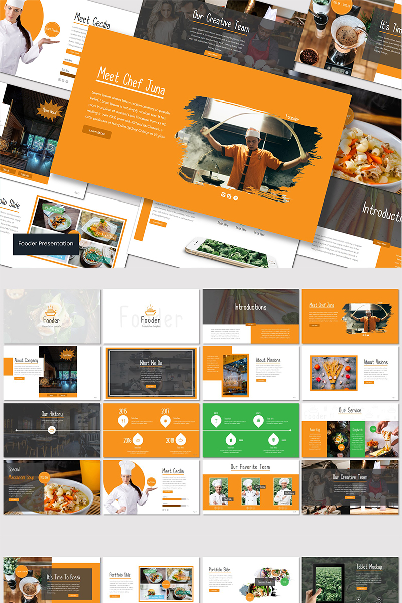 Fooder - PowerPoint Template