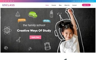 Iziclass - Kindergarten and Preschool WordPress Theme