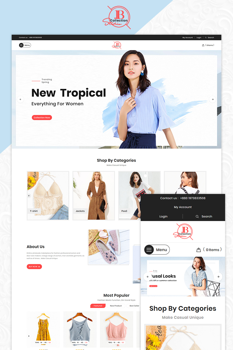 JB Collection Fashion OpenCart Template