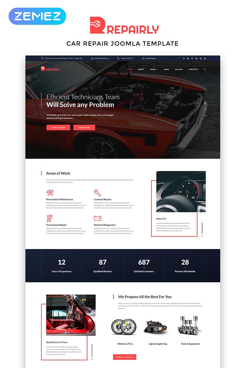 """""""Repairly - Car Repair Company"""" Responsive Joomla Template №83805"""