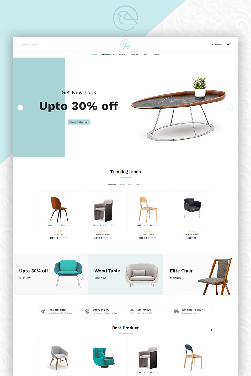 Responsywny szablon OpenCart Bird - Furniture Mega Store #83863