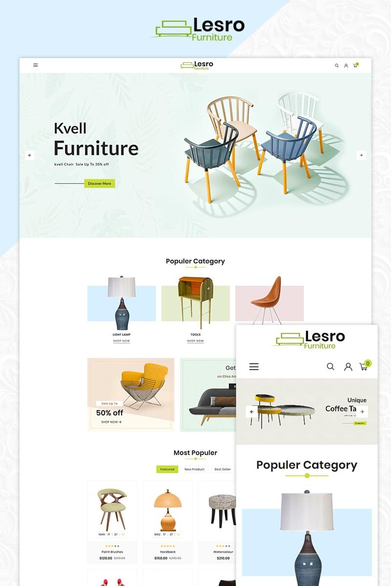 Responsywny szablon OpenCart Lesro Furniture Multi Store #83854 - zrzut ekranu