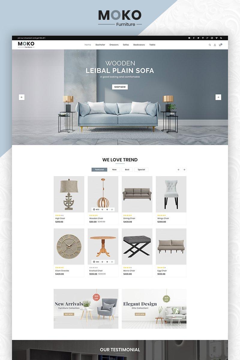 Responsywny szablon OpenCart Moko Furniture Clean Store #83861