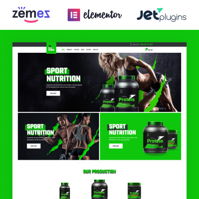 Sports Store Responsive WooCommerce Sablon