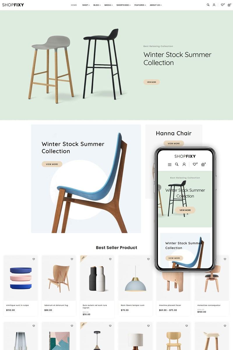"""""""ShopFixy - Furnitures Store"""" thème WooCommerce adaptatif #83885"""