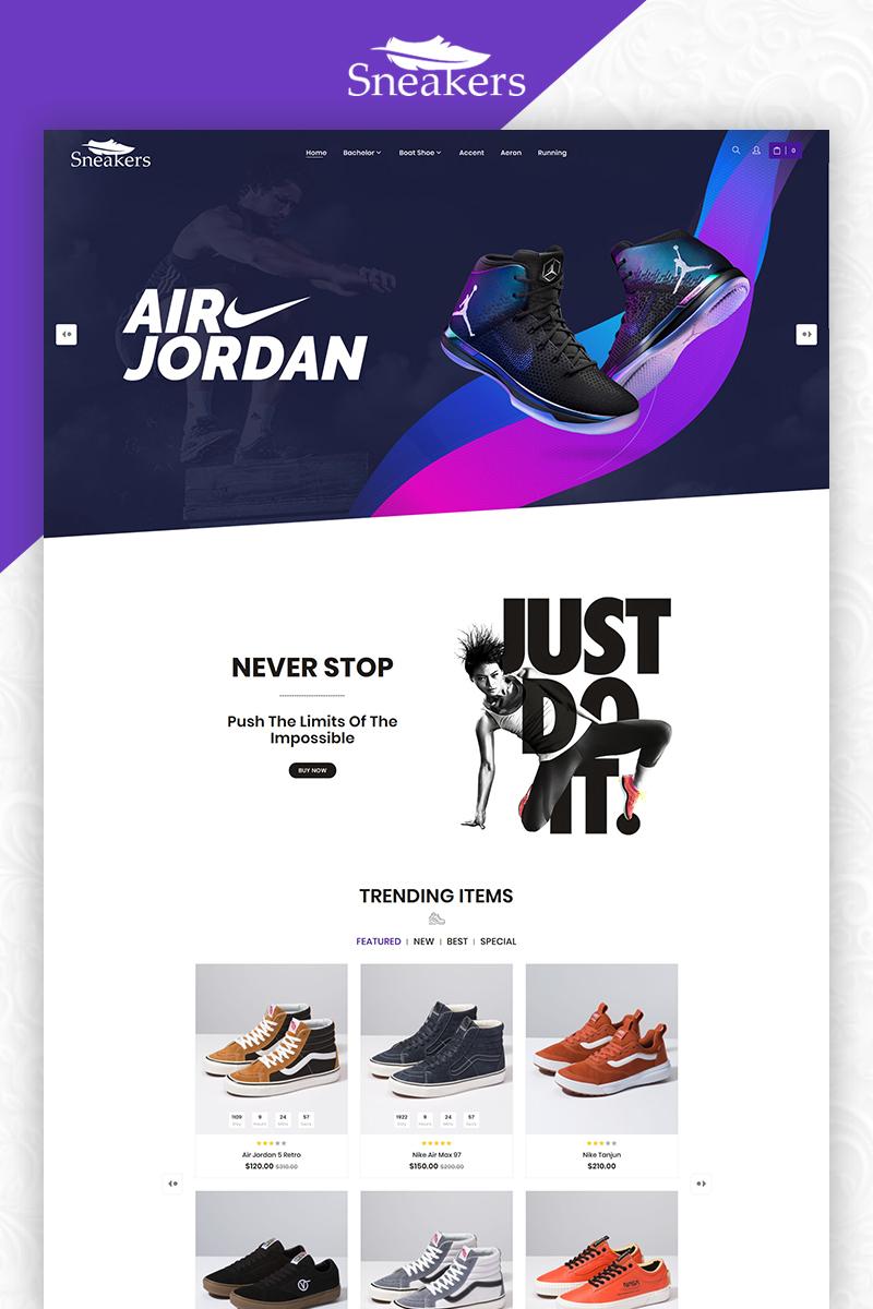 """""""Sneakers Shoes Store Multi-Purpose"""" Responsive OpenCart Template №83855 - screenshot"""