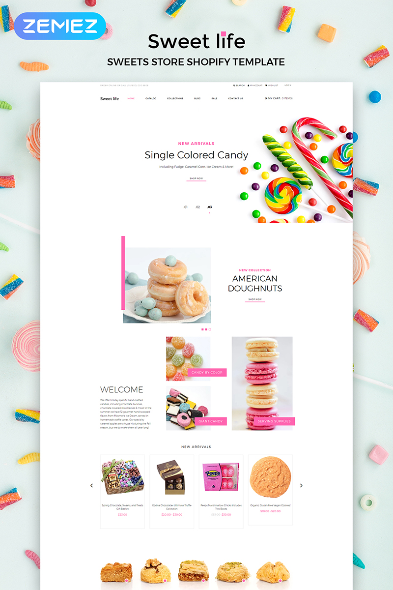 Sweet Life - Sweet Store Multipage Clean Shopify Theme - screenshot