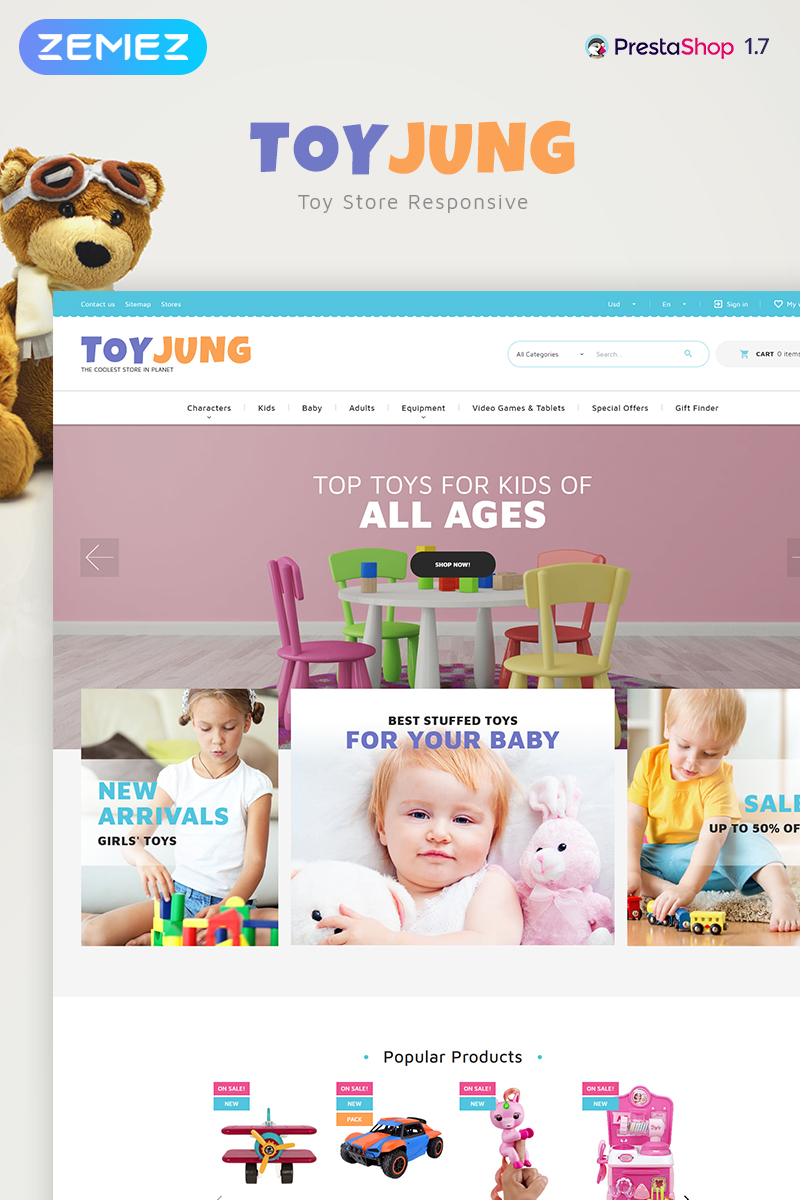 ToyJung - Plaything Store Bootstrap Ecommerce Clean №83884