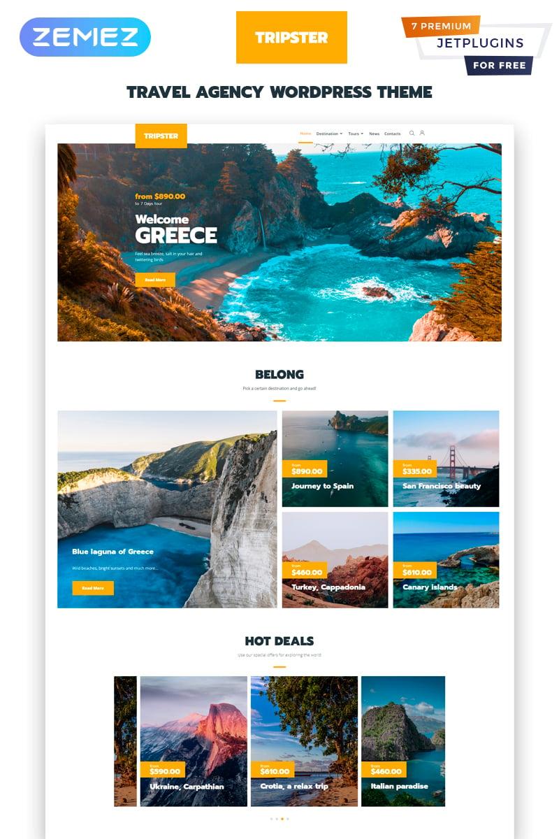 Tripster - Travel Agency Modern WordPress Elementor Theme WordPress Theme