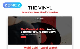 The Vinyl - Music Store eCommerce Creative Shopify Theme